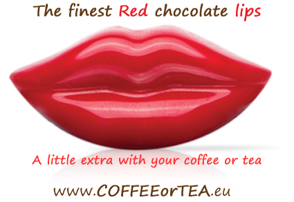 Dobla chocolate red lips. A little extra with your coffee ...